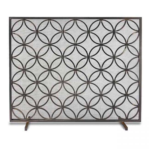 Bedford Single Panel Screen - Matte Black