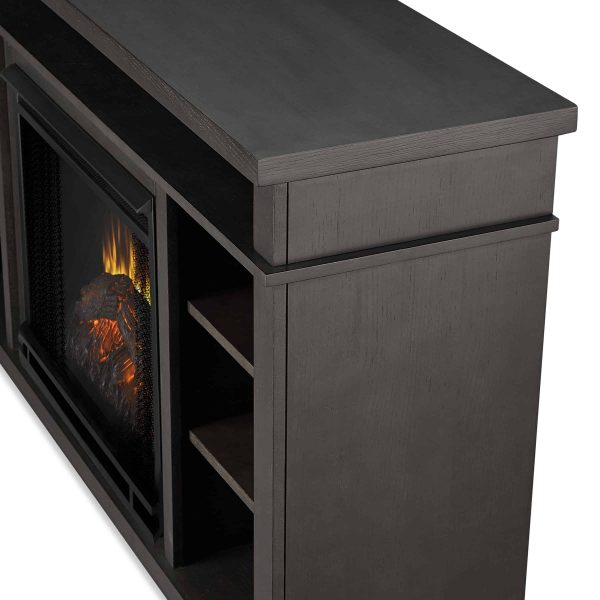 Belford Electric Fireplace in Gray by Real Flame 4