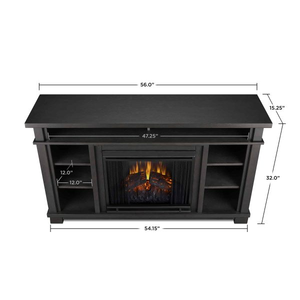 Belford Electric Fireplace in Gray by Real Flame 5