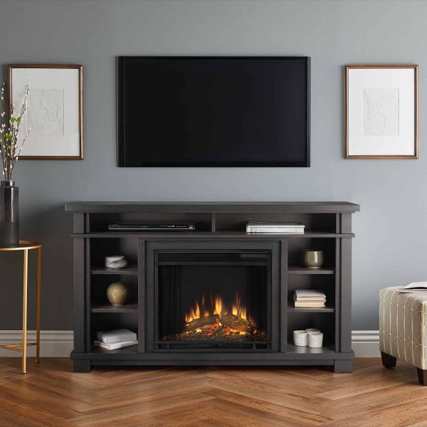 Belford Electric Fireplace in Gray by Real Flame