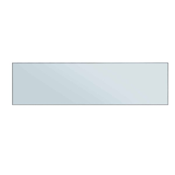 Benzara BM196009 Wood & Mirror Electric Fireplace with Faux Crystal Dusted Face, Clear & Black 1