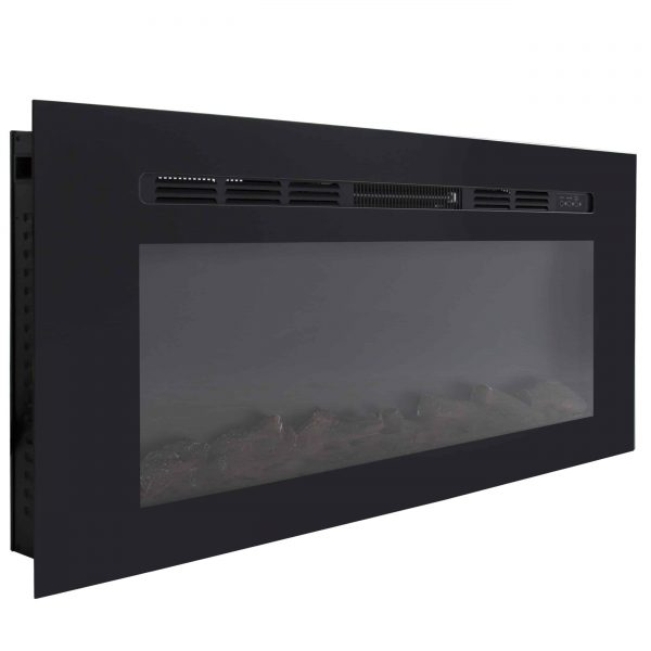 Best Choice Products 1500W 50in Heat Adjustable In-Wall Recessed Electric Fireplace Heater w/ Remote Control 2