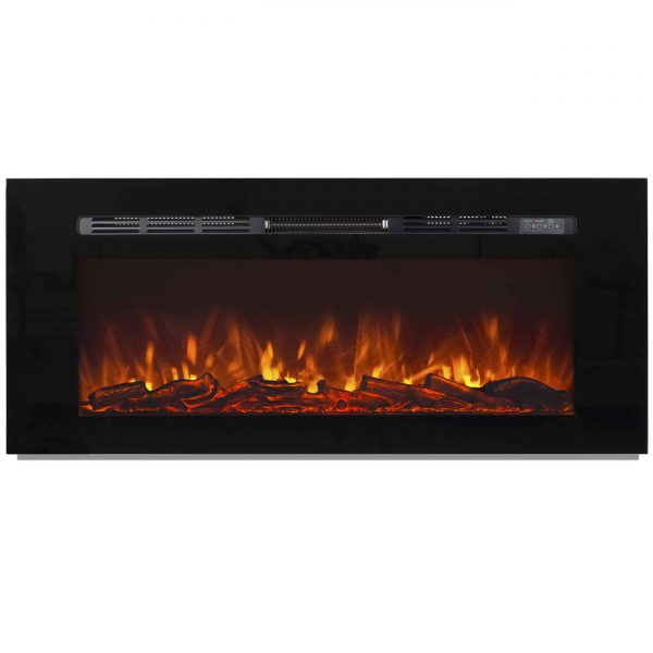 Best Choice Products 1500W 50in Heat Adjustable In-Wall Recessed Electric Fireplace Heater w/ Remote Control