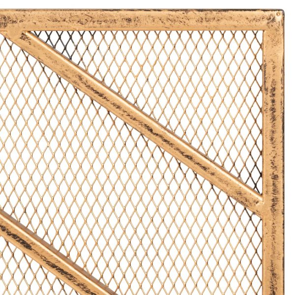 Best Choice Products 38x31in Single Panel Handcrafted Iron Chevron Fireplace Screen w/ Distressed Antique Copper Finish 3