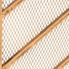 Best Choice Products 38x31in Single Panel Handcrafted Iron Chevron Fireplace Screen w/ Distressed Antique Copper Finish 11