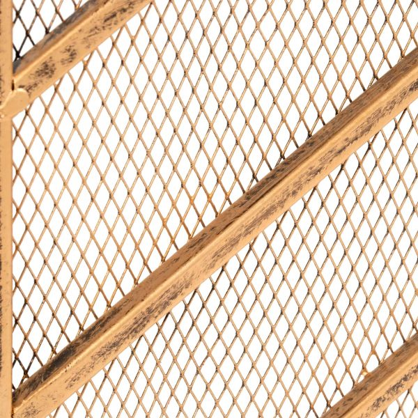 Best Choice Products 38x31in Single Panel Handcrafted Iron Chevron Fireplace Screen w/ Distressed Antique Copper Finish 5