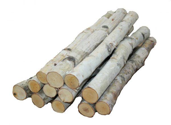 "Birch logs 1"" to 1.5'' x 18'' Long - Set of 12 logs 1"