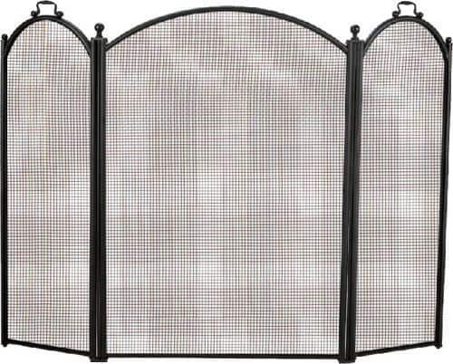 Black 3 Fold Arched Screen - 29 x 52 inch