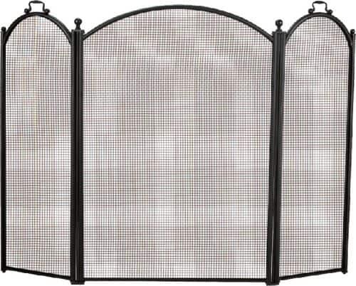 Black 3 Fold Arched Screen - 40 x 52 inch