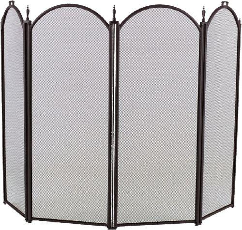 Black 4 Fold Arched Screen - 32.5 x 52 inch