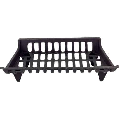 Black Cast Iron Grate with Ends - 5 inch