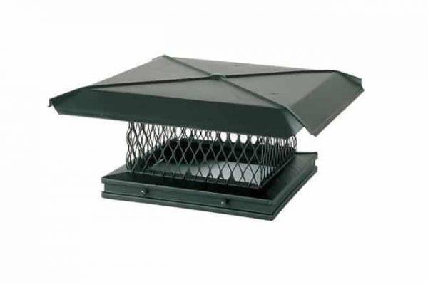 Black Galvanized Gelco Chimney Cover- 17 x 17 1