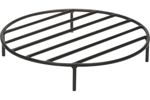Black Steel Fire Ring Grate - 12 inch