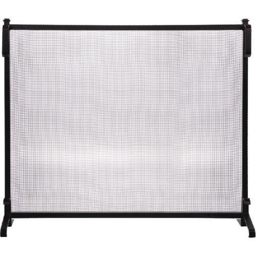 Black Wrought Iron Panel Screen - 33 inch