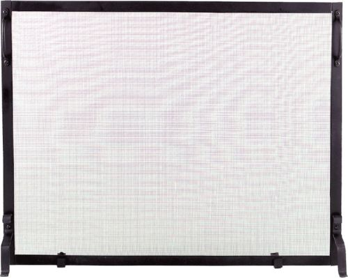 Black Wrought Iron Panel Screen - 34 inch