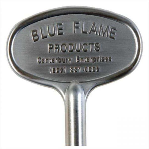 "Blue Flame Gas Valve Key 8 "" Satin Chrome"