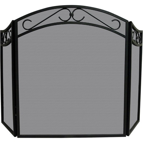 Blue Rhino UniFlame Tri-Fold Wrought Iron Screen with Arch
