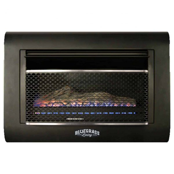 Bluegrass Living Dual Fuel Vent Free Linear Wall Gas Fireplace With Log - 26