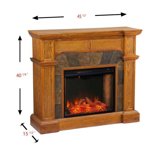 Bofyre Corner Convertible Smart Fireplace w/ Faux Stone Surround 3
