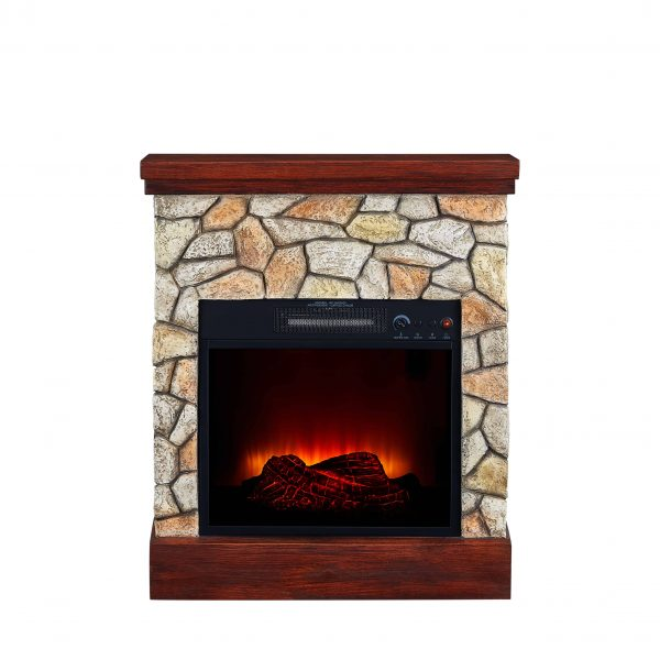 Bold Flame 26 inch Faux Stone Electric Fireplace in Tan/Grey 1