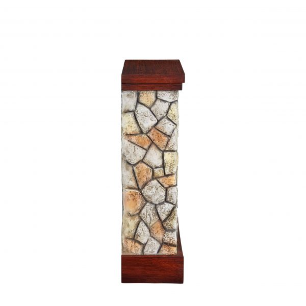 Bold Flame 26 inch Faux Stone Electric Fireplace in Tan/Grey 3