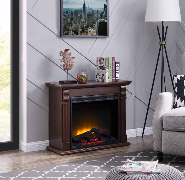 Bold Flame 33.46 inch Electric Fireplace in Chestnut