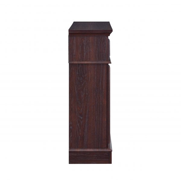 Bold Flame 36 inch Faux Marble Electric Fireplace in Walnut 1