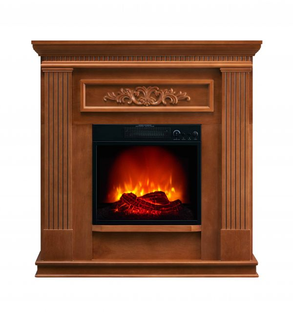 Bold Flame 38 inch Wall Electric Fireplace in Oak 1