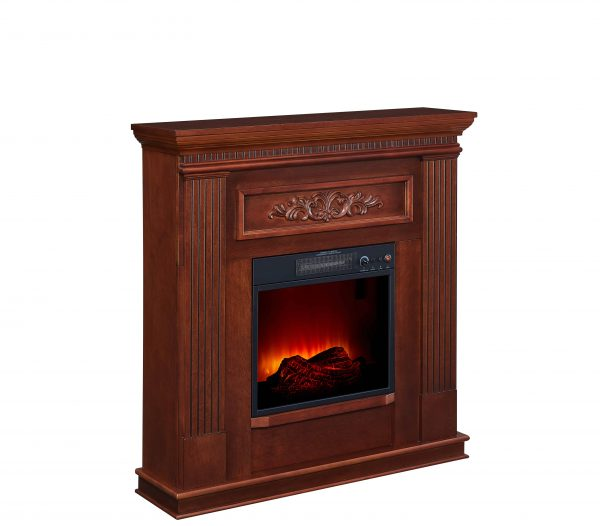 Bold Flame 38 inch Wall/Corner Electric Fireplace in Dark Cherry 2