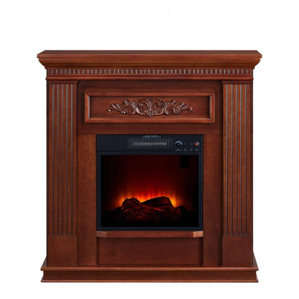 Bold Flame 38 inch Wall/Corner Electric Fireplace in Dark Cherry 3