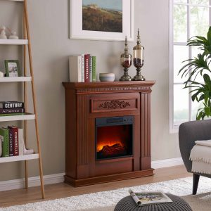 Bold Flame 38 inch Wall/Corner Electric Fireplace in Dark Cherry