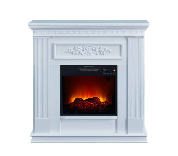 Bold Flame 38 inch Wall/Corner Electric Fireplace in White 5