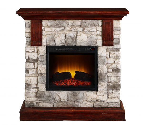 Bold Flame 40 inch Faux Stone Electric Fireplace in Tan/Grey 1