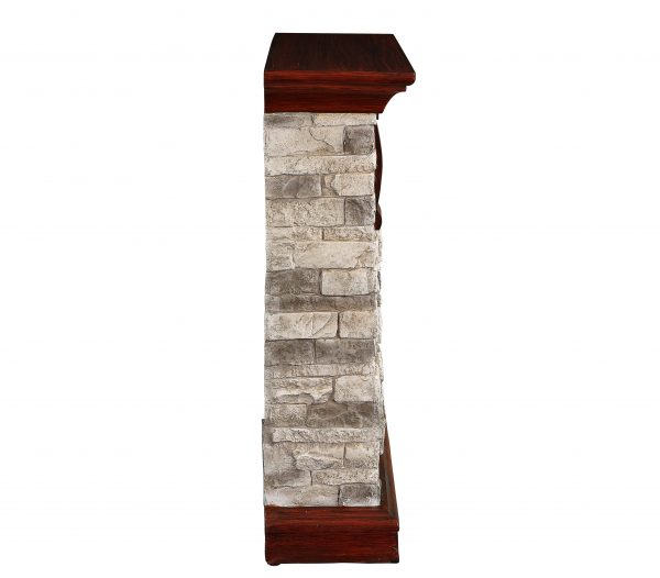 Bold Flame 40 inch Faux Stone Electric Fireplace in Tan/Grey 3