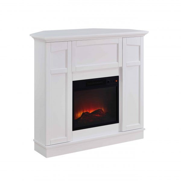 Bold Flame 40 inch Wall/Corner Electric Fireplace in White 1