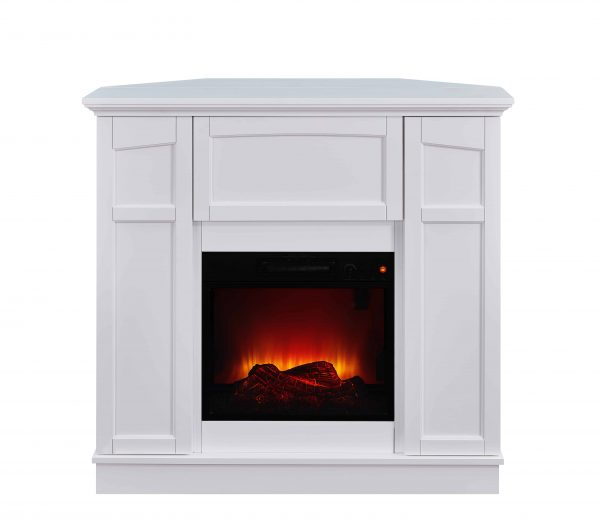 Bold Flame 40 inch Wall/Corner Electric Fireplace in White 2