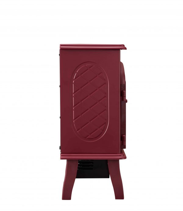 Bold Flame Electric Space Heater, Glossy Red 3