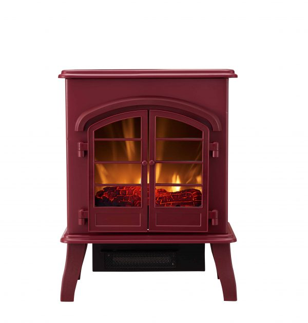 Bold Flame Electric Space Heater, Glossy Red 5
