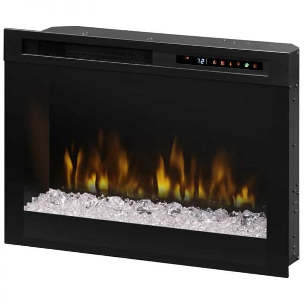 "Bowery Hill 26"" Electric Firebox in Black with Glass Ember Bed"