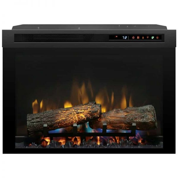 "Bowery Hill 26"" Electric Firebox with Logset in Black 2"