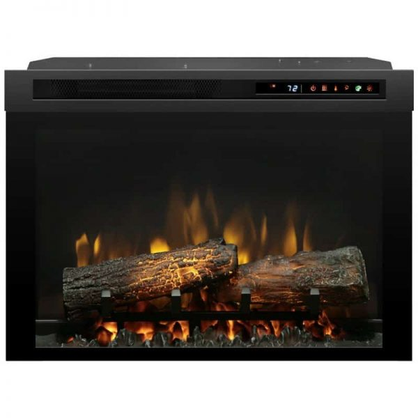 "Bowery Hill 26"" Electric Firebox with Logset in Black"