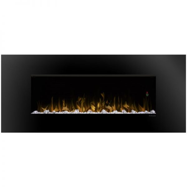 "Bowery Hill 52"" Wall Mount Electric Fireplace in Black"