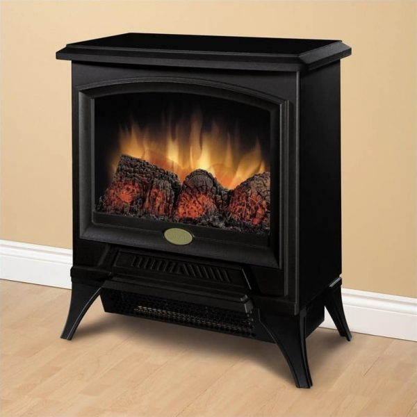 Bowery Hill Electric Fireplace Stove Heater in Black 1