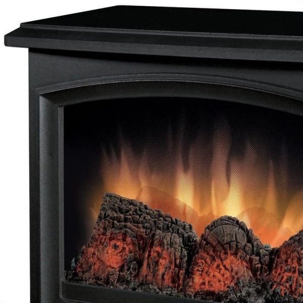 Bowery Hill Electric Fireplace Stove Heater in Black 2