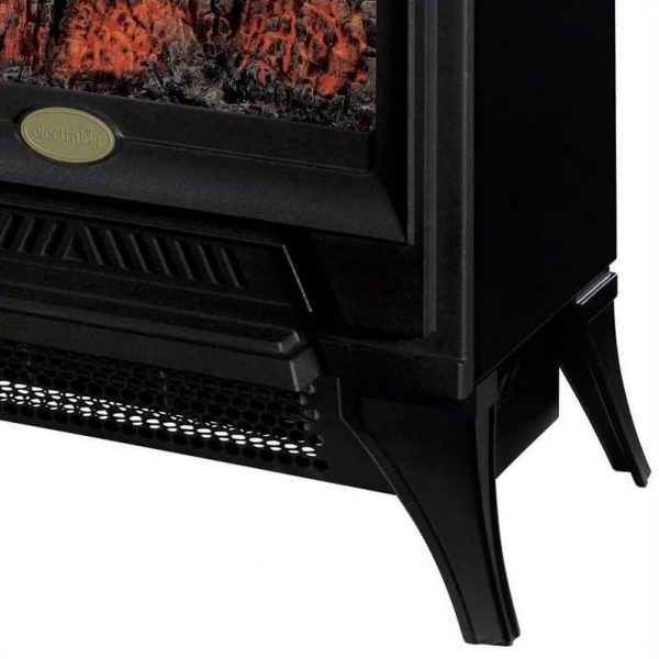 Bowery Hill Electric Fireplace Stove Heater in Black 3