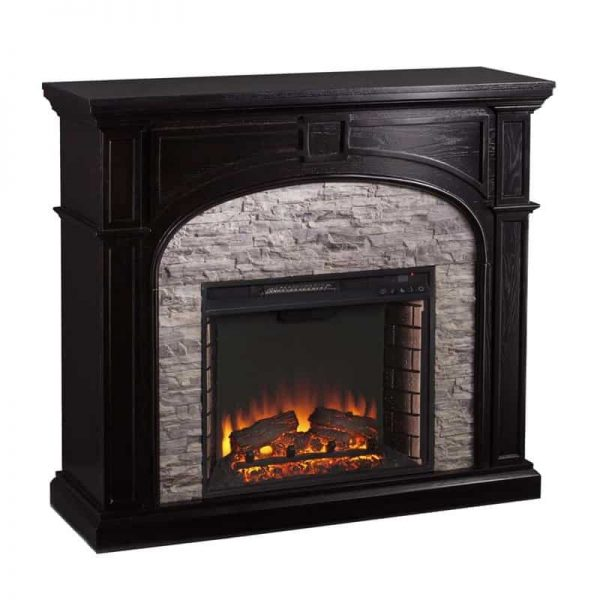 Bowery Hill Electric Fireplace in Ebony and Gray 1