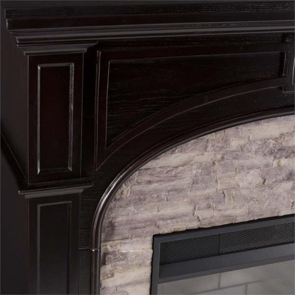 Bowery Hill Electric Fireplace in Ebony and Gray 3