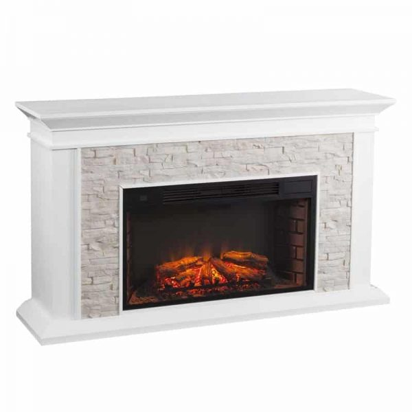 Bowery Hill Faux Stone Electric Fireplace 1