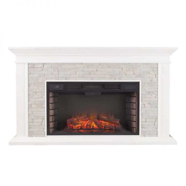 Bowery Hill Faux Stone Electric Fireplace 2