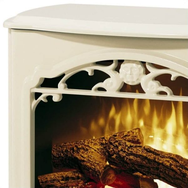 Bowery Hill Stoves Celeste Electric Fireplace Stove Heater in Cream 1